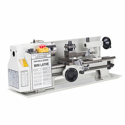 """Variable-Speed Mini Metal Lathe 7"""" x 12"""" High Quality 400W Woodworking"""