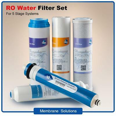 5-Stage Reverse Osmosis Replacement Kit Filter Cartridges With 50GPD RO Membrane