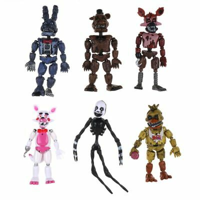 6Pcs FNAF Five Nights at Freddy's Action Figures LED Light Kids Toys Xmas Gifts