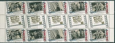 Tonga 1985 SG910a Mutiny on the Bounty film gutter pairs strip SPECIMEN set MNH
