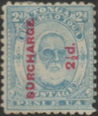 Tonga 1895 SG27 2½d on 2d King George I MH
