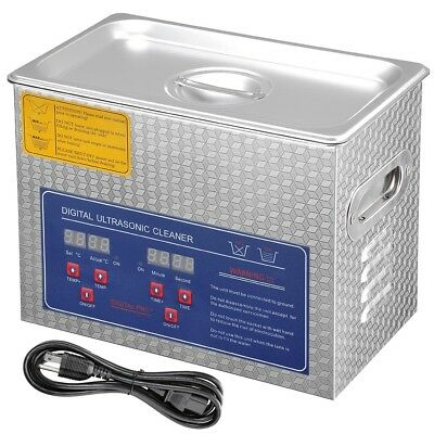 3L Ultrasonic Cleaning Machine Cleaner Heater Timer Bracket Jewelry Lab