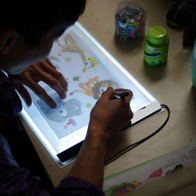 1X A4 Ultra Thin Art Stencil LED Light Pad Tracing Board Animation Drawing Box