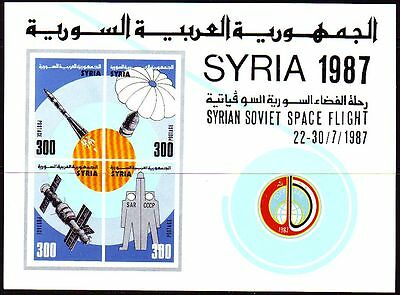 Syrien Syria 1987 ** Bl.67 Weltraumflug | Space | Spaceshuttle | Space Flight