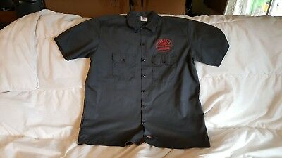 Dickies Fireball Cinnamon Whiskey short sleeve work shirt. Gray, size XL.