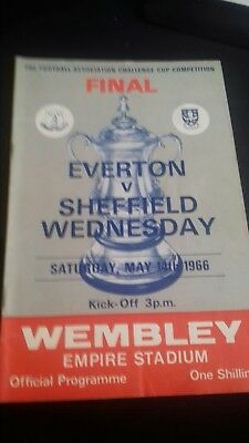 Fa cup final programme EVERTON V SHEFFIED WEDNESDAY 1966