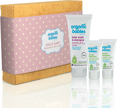 Green People Hello Baby Gift Set - Girl - Baby Salve, Lotion, Wash and Shampoo