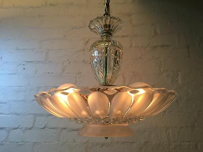 Antique-frosted-glass-art-deco-light-fixture-ceiling-chandelier