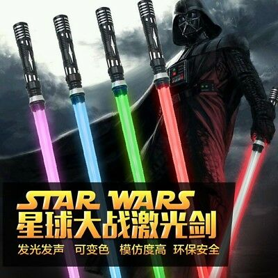 Star Wars Lightsaber Led Flashing Light Sword Toys Cosplay Weapons