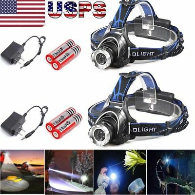 10000Lumens XM-L T6 LED Zoomable Headlamp Rechargeable 18650 Headlight Head Lamp