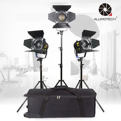 For Camera Video Studio Photography 3 Unit 20W LED Fresnel Spot Light+Stands Kit