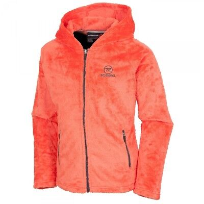 Polaire Rossignol Girl Hairy Fleece Hood Light Coral