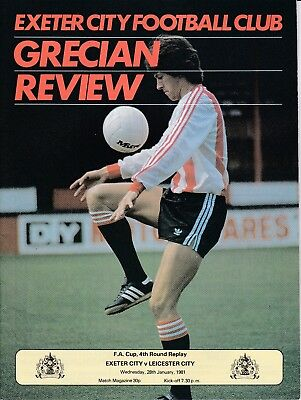 Exeter City v Leicester City FA Cup 4th Round Replay 1980/81