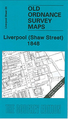 Old Ordnance Survey Map Liverpool Shaw Street 1848 Soho Street Richmond Row