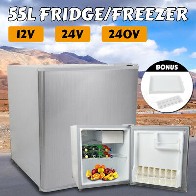 55L Portable Fridge Freezer Camp Car Boating Appliance Mobile Home 12V/24V/240V