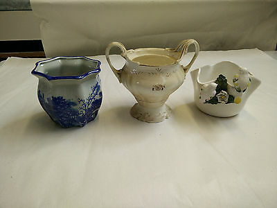 Wonderful Collection of 3 Different Unique Porcelain Display Bowls Ornament AD