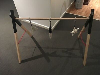 Handmade Wooden Baby Play Gym (Toys Not Included)