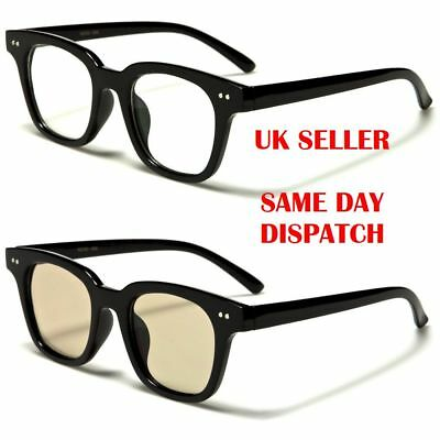 Geek Quality Classic Square Designer Womens Mens Clear Lens glasses 56 100%UV400