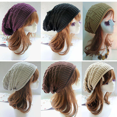 NEW Men Women's Knit Baggy Beanie Oversize Winter Hat Ski Slouchy Chic Cap Skull