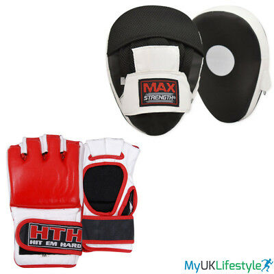 Boxing Focus Pads Set MMA Training Grappling Gloves Muay Thai Fight Punch Mitts