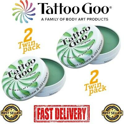 Tattoo Goo Aftercare Salve (2xLARGE) TWIN PACK - The Best Tattoo Aftercare