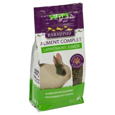 Aliment Complet pour Lapins Nains Junior - Paradisio - 900g