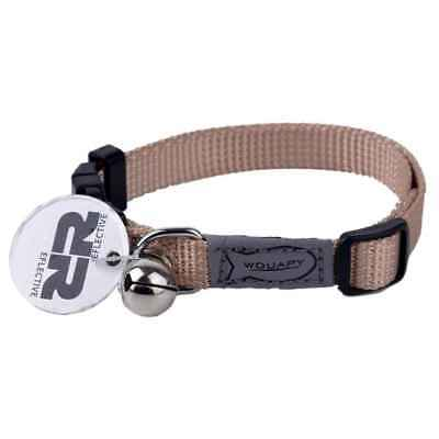 Wouapy - Collier Basic Line pour Chat - Beige
