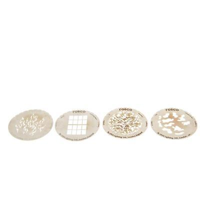 Rosco Lot of 4 Assorted Gobo Templates - 66mm SKU#927193