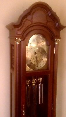 Pearl Grandfather clock Incredible condition!!