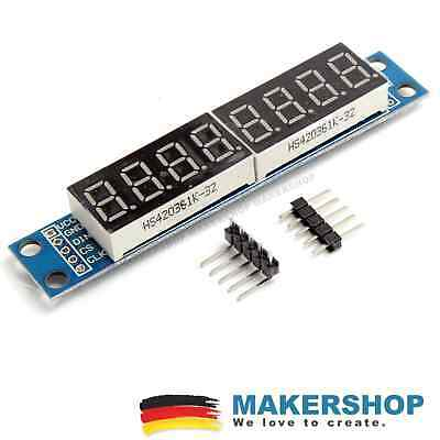 LED 7 Segment Display MAX7219 SPI 5V Anzeige Modul Arduino Raspberry