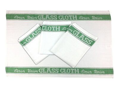 Green - Glass Cloth, 4 Pack, Tea Towel, Linen Union, Catering, Bar Towel