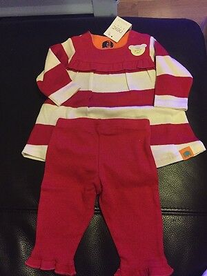 Next Baby Girls Red Jersey Set. Up To 3mths