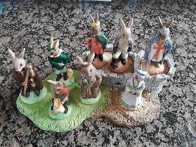 Royal Doulton - Bunnykins - 'Robin Hood' Complete Set Made in England