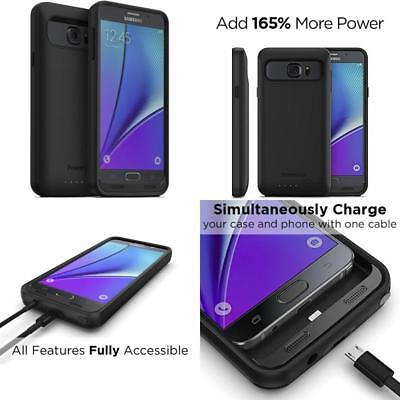 finest selection be2b8 be768 POWERBEAR Samsung Note 5 Battery Case [5000 mAh] High Capacity ...