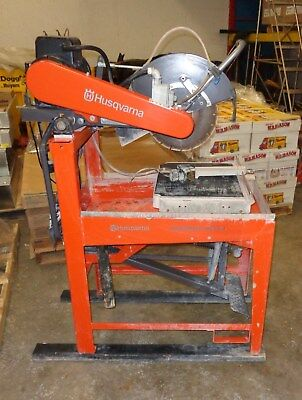 HUSQVARNA MASONRY SAW, Guardmatic MS 510 Wet Cut, Used - LOCAL PICKUP ONLY