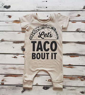 NWT Luxe Lou boutique boys lets taco bout it romper WINTER SALE