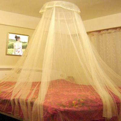 Elegant Hung Dome Mosquito Nets Mesh Fabric Home Textile in Blue, Pink, White
