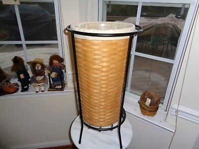 Longaberger  Umbrella Basket Combo With Iron Stand