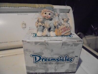 "Large Dreamsicle Figurine-1996- ""free Puppies"""