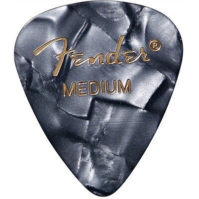 Fender 351 Premium Celluloid Electric Guitar Picks Black Moto Medium 12-Pack