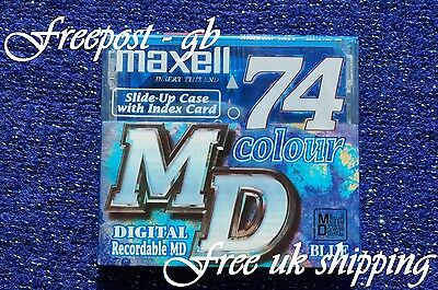 Maxell Recordable Audio Minidisc - 74 Minute - Brand New Boxed With Case - Md74