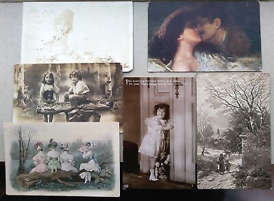 127 Old Postcards SOCIAL HISTORY Children WOMEN Boys GIRLS 50 TO THE SAME PERSON
