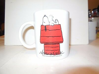Vintage Snoopy Woodstock on Doghouse Coffee Cup Mug