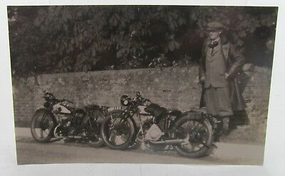 VINTAGE MOTOR CYCLE POSTCARD REAL PHOTOGRAPH RIDER w/GOGGLES & ANTIQUE LEATHERS*