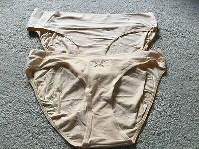 NEW! Motherhood LOT XL Foldover Brief Nude Beige Tan Maternity Underwear Panties