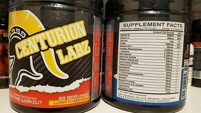 Centurion Labz Rage 33 servings! New Strong PreWorkout! Energy Power Endurance