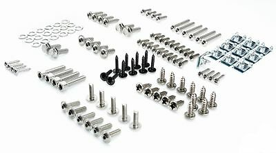 Aprila Sr 50 Fairing Screws Stainless Steel Set + 10 Fairing Clips Spring Nuts