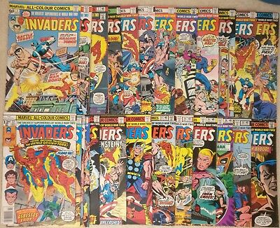 Invaders #3-40, Marvel Comics Bronze Age Collection 1975, Captain America, Namor