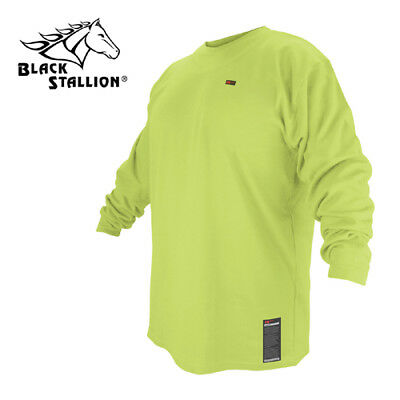 Revco FTL6-LIM-XL Flame-Resistant Cotton T-Shirt - Limited Wash Lime Green Long