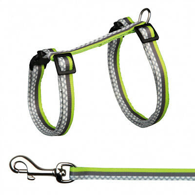 Rabbit Harness With Lead By Trixie Grey With Green or Pink 61496